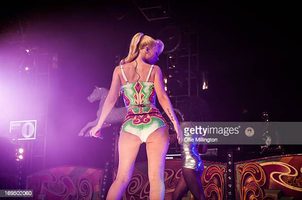 Iggy Azalea performs on stage on Day 2 of Radio 1's Big Weekend Festival on May 25 2013 in Londonderry Northern Ireland