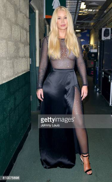 Iggy Azalea poses backstage during Univision's 'Premios Juventud' 2017 Celebrates The Hottest Musical Artists And Young Latinos ChangeMakers at...