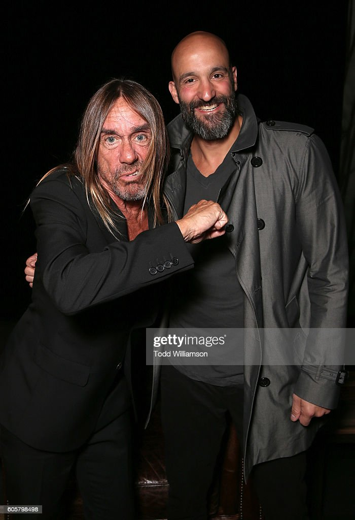 Iggy Pop and Amazon Studios Head of Worldwide Film Jason Ropell attend the Premiere of Amazon Studios' 'Gimme Danger' at the Toronto International Film Festival at Ryerson Theatre on September 14, 2016 in Toronto, Canada.