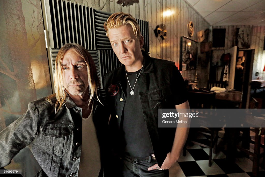 Iggy Pop and Josh Homme teamed up to work on Pop's latest album, 'Post Pop Depression' are photographed for Los Angeles Times on March 2, 2016 in Los Angeles, California. PUBLISHED IMAGE.