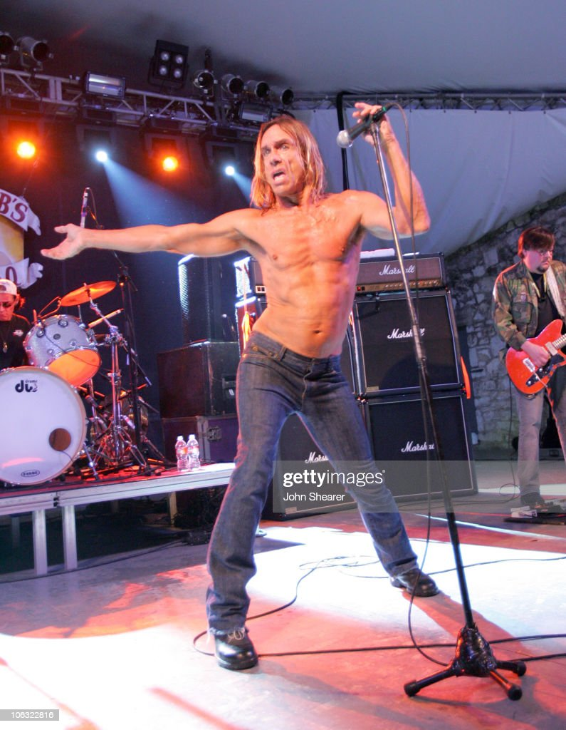 Iggy Pop and Ron Asheton of The Stooges during 21st Annual SXSW Film and Music Festival - The Stooges at Stubbs at Stubb's in Austin, Texas, United States.