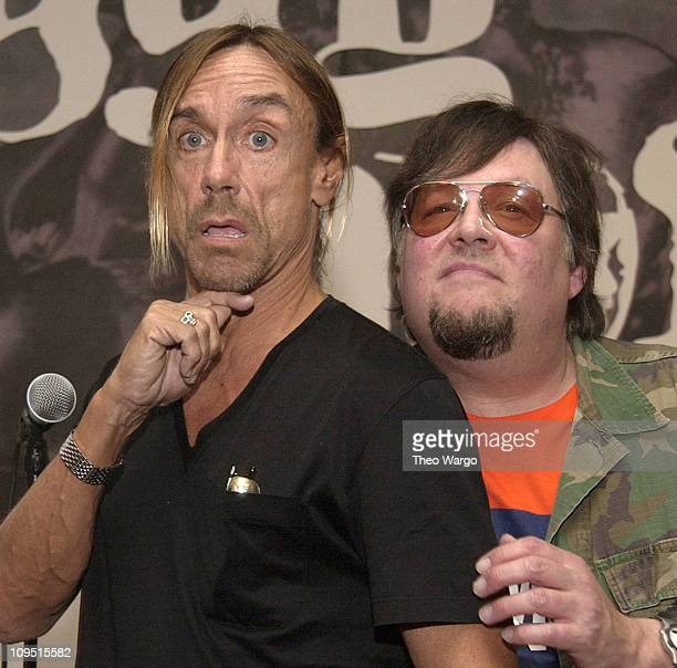 Iggy Pop and Ron Asheton of The Stooges during Iggy Pop and The Stooges InStore to Promote New Record 'Skull Ring' at Tower RecordsVillage in New...