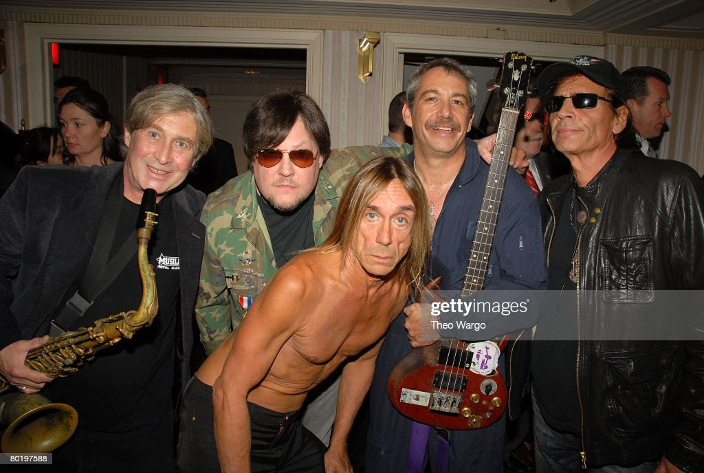 Iggy Pop and the Stooges appears backstage during the 23rd Annual Rock and Roll Hall of Fame Induction Ceremony at the Waldorf Astoria on March 10, 2008 in New York City.