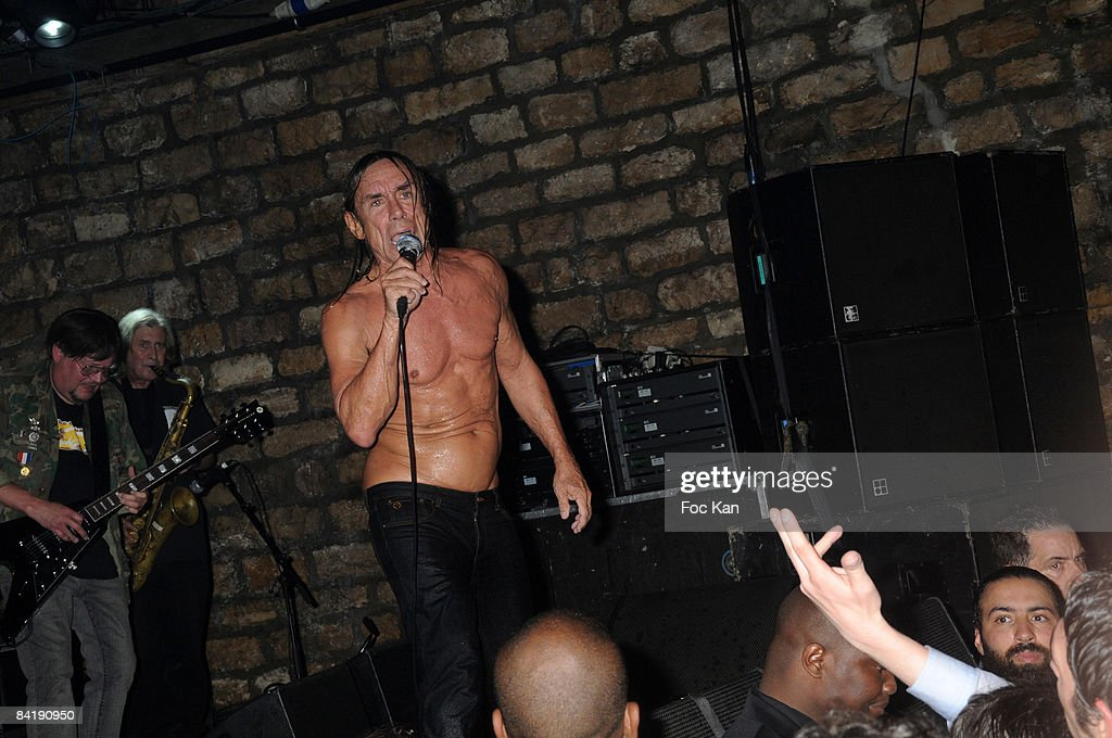 Iggy Pop and the Stooges attend The Converse 100th Anniversary Party and Iggy Pop Concert at the Show Case Club on September 04, 2008 in Paris, France.