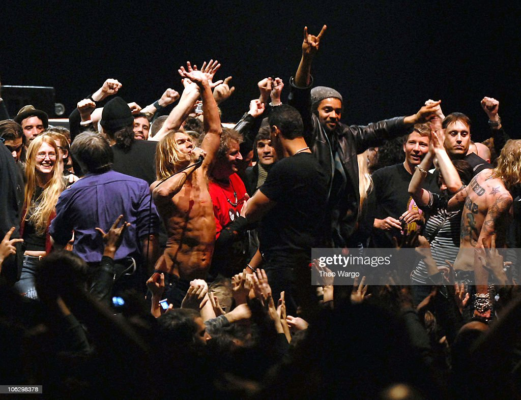 Iggy Pop (center left) and The Stooges during Iggy Pop and The Stooges Perform at United Palace Theatre in New York City at United Palace Theatre in New York City, New York, United States.