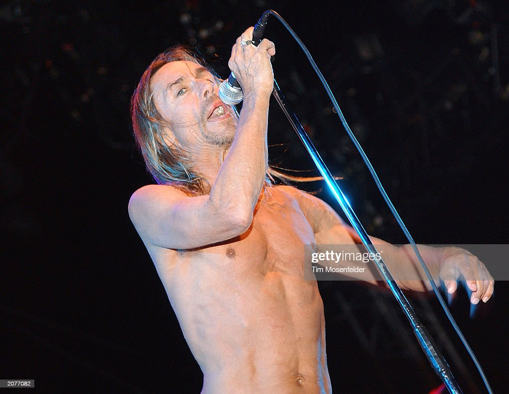 <a gi-track='captionPersonalityLinkClicked' href=/galleries/search?phrase=Iggy+Pop&family=editorial&specificpeople=171445 ng-click='$event.stopPropagation()'>Iggy Pop</a> and the Stooges perform at the Coachella Valley Music and Arts Festival on April 27, 2003 in Indio, California.