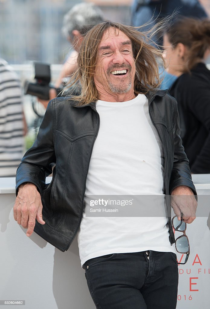 <a gi-track='captionPersonalityLinkClicked' href=/galleries/search?phrase=Iggy+Pop&family=editorial&specificpeople=171445 ng-click='$event.stopPropagation()'>Iggy Pop</a> attends the 'Gimme Danger' Photocall at the annual 69th Cannes Film Festival at Palais des Festivals on May 19, 2016 in Cannes, France.