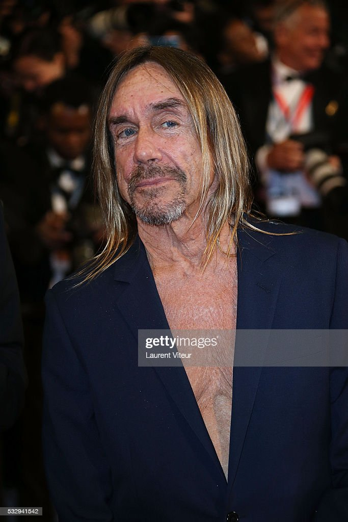 Iggy Pop attends the 'Gimme Danger' Premiere during the 69th annual Cannes Film Festival at the Palais des Festivals on May 19, 2016 in Cannes, .
