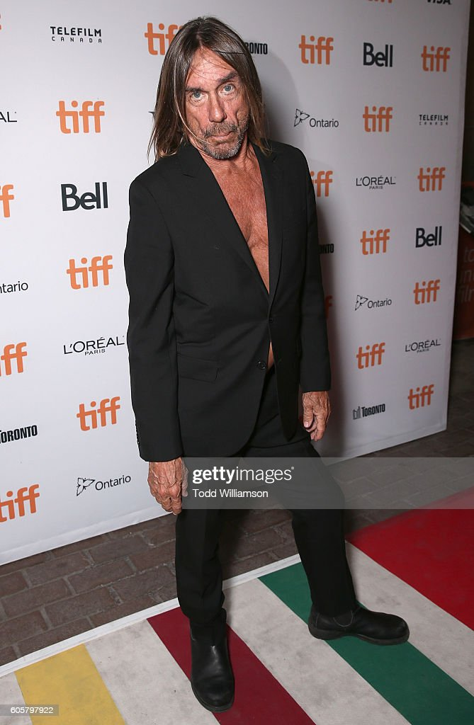 Iggy Pop attends the Premiere of Amazon Studios' 'Gimme Danger' at the Toronto International Film Festival at Ryerson Theatre on September 14, 2016 in Toronto, Canada.