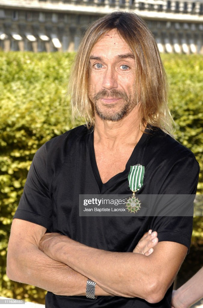 "Iggy Pop Receiving the ""Arts and Letters Medal"" - Photocall - Paris"