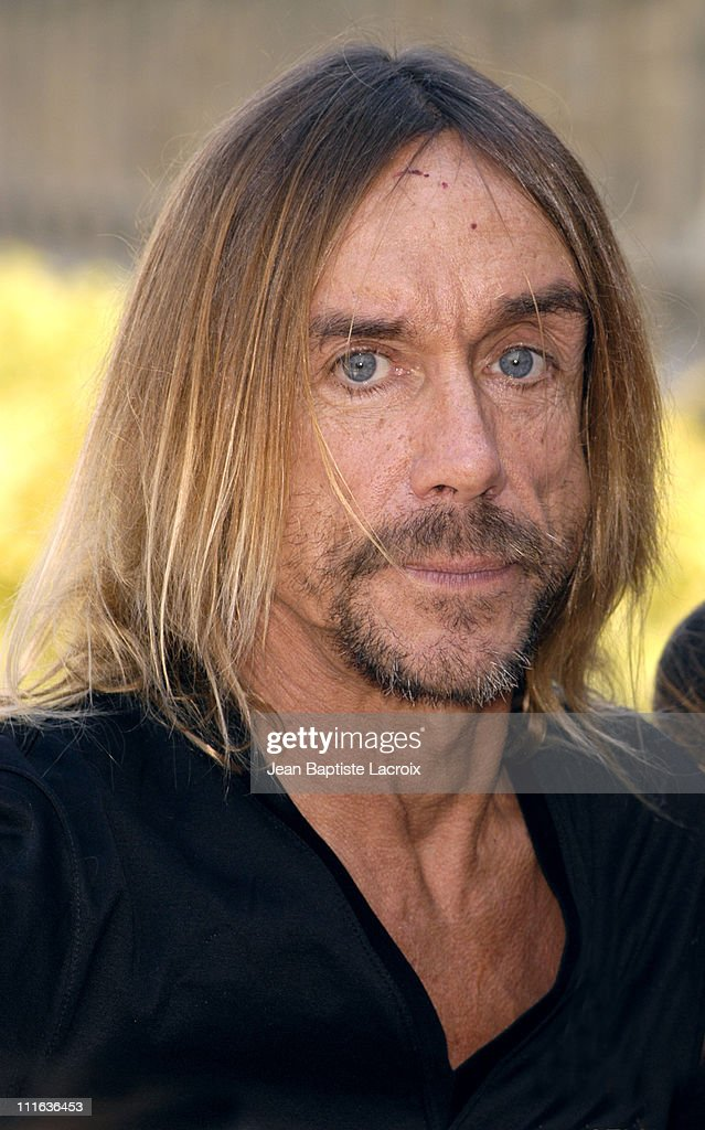 <a gi-track='captionPersonalityLinkClicked' href=/galleries/search?phrase=Iggy+Pop&family=editorial&specificpeople=171445 ng-click='$event.stopPropagation()'>Iggy Pop</a> during <a gi-track='captionPersonalityLinkClicked' href=/galleries/search?phrase=Iggy+Pop&family=editorial&specificpeople=171445 ng-click='$event.stopPropagation()'>Iggy Pop</a> Receiving the 'Arts and Letters Medal' - Photocall - Paris at Ministry of Culture in Paris, France.