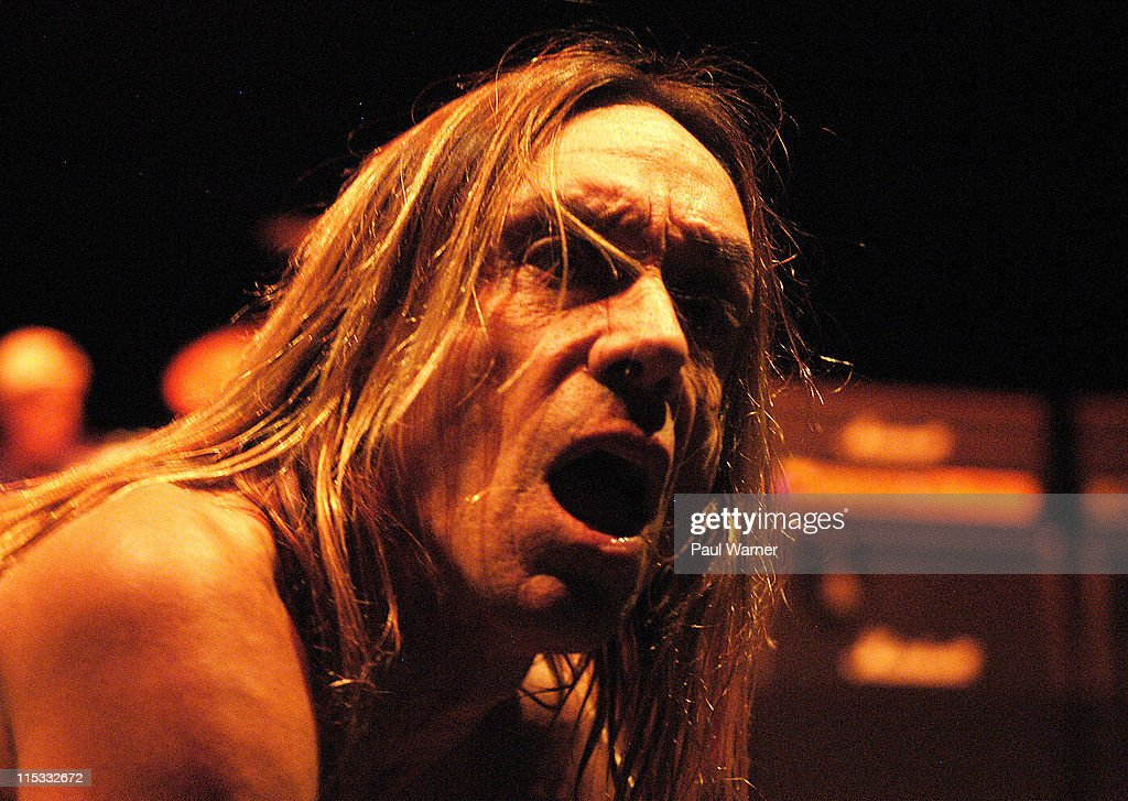 Iggy Pop of Iggy and The Stooges during Iggy and The Stooges in Concert - April 13, 2007 at The Fox Theater in Detroit, Michigan, United States.