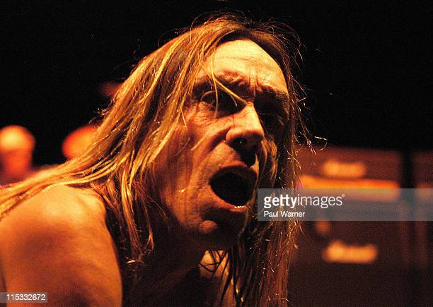 Iggy Pop of Iggy and The Stooges during Iggy and The Stooges in Concert April 13 2007 at The Fox Theater in Detroit Michigan United States