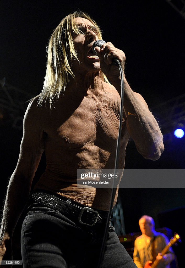 Iggy Pop of Iggy and the Stooges performs as part of C2SV Music Festival Day Three at St. James Park on on September 28, 2013 in San Jose, California.