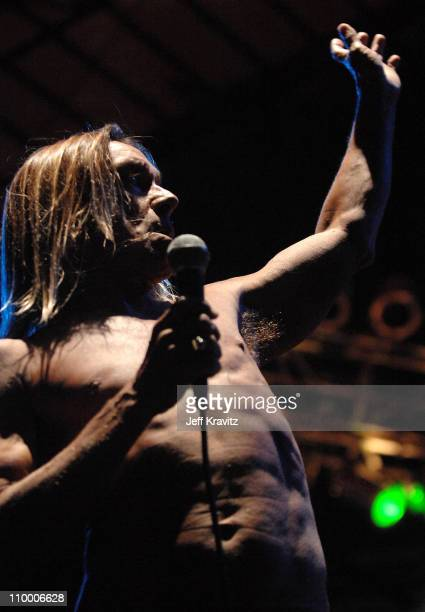 Iggy Pop of Iggy and the Stooges performs during the Vegoose Music Festival on October 27 2007 at Sam Boyd Stadium in Las Vegas Nevada