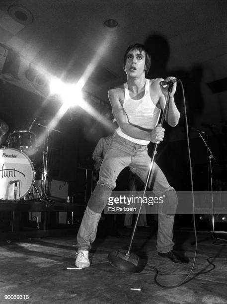Iggy Pop performs at the Old Waldorf club in November 12 1977 in San Francisco California