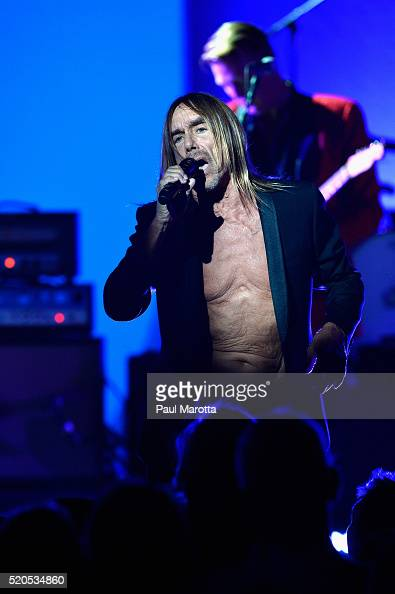 Iggy Pop performs during his 'Post Pop Depression' tour at the Orpheum Theatre on April 11 2016 in Boston Massachusetts