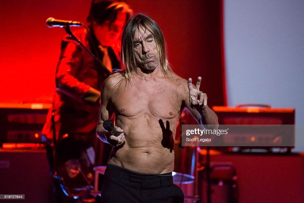 Iggy Pop performs in support of the Post Pop Depression Tour at Fox Theatre on April 7, 2016 in Detroit, Michigan.