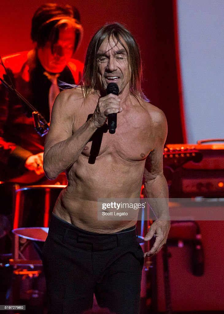 Iggy Pop performs in support of the Post Pop Depression Tour at Fox Theatre on April 7 2016 in Detroit Michigan