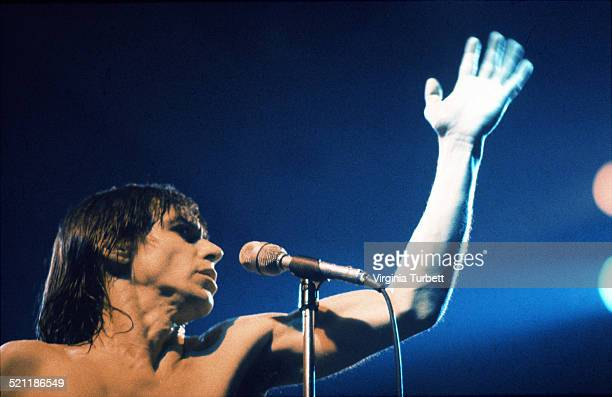 Iggy Pop performs on stage in Aylesbury United Kingdom 2 February 1980