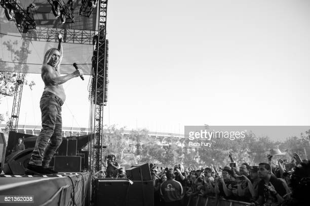 Iggy Pop performs onstage on day 3 of FYF Fest 2017 at Exposition Park on July 23 2017 in Los Angeles California