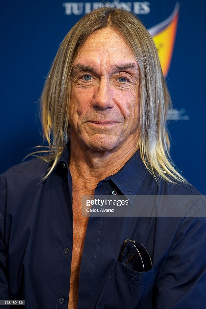 <a gi-track='captionPersonalityLinkClicked' href=/galleries/search?phrase=Iggy+Pop&family=editorial&specificpeople=171445 ng-click='$event.stopPropagation()'>Iggy Pop</a> presents the new Schweppes Limon Dry at La Caja Magica on May 9, 2013 in Madrid, Spain.