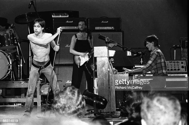 Iggy Pop Ricky Gardiner and David Bowie perform live in 1978 in San Francisco California