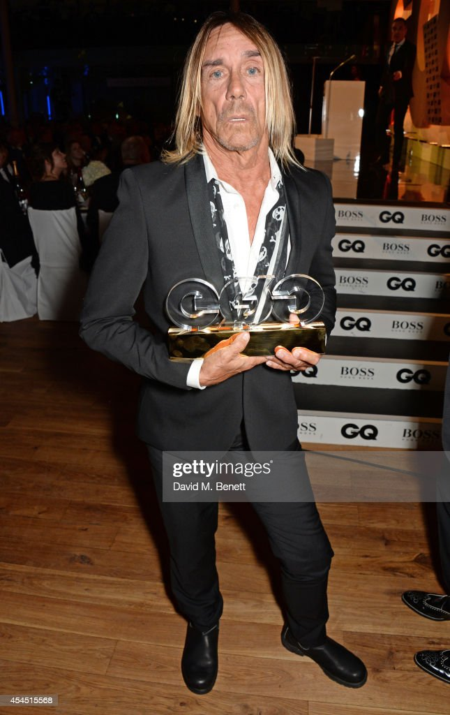 Iggy Pop, winner of the Icon Award, attends the GQ Men Of The Year awards in association with Hugo Boss at The Royal Opera House on September 2, 2014 in London, England.