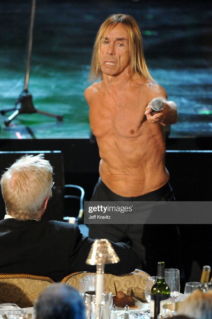 Iggy & The Stooges perform onstage at the 25th Annual Rock and Roll Hall of Fame Induction Ceremony at the Waldorf=Astoria on March 15, 2010 in New York City.