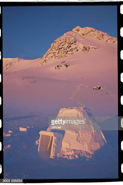 Igloo and Snowy Mountain