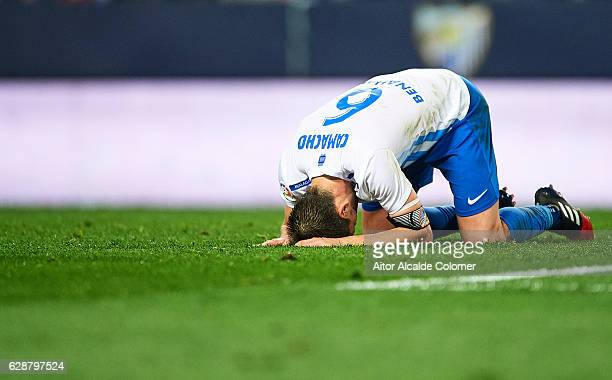 Ignacio Camacho of Malaga CF reacts during La Liga match between Malaga CF and Granada CF at La Rosaleda Stadium December 9 2016 in Malaga Spain