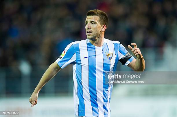 Ignacio Camacho of Malaga CF reacts during the La Liga match between SD Eibar and Malaga CF at Ipurua Municipal Stadium on January 30 2016 in Eibar...