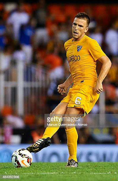 Ignacio Camacho of Malaga in action during the La Liga match between Valencia CF and Malaga CF at Estadi de Mestalla on August 29 2014 in Valencia...