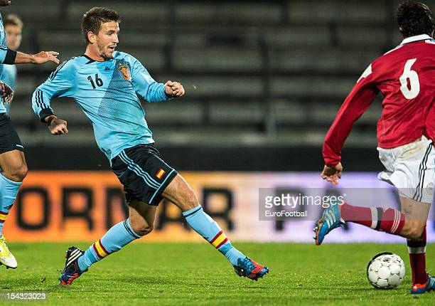 Ignacio Camacho of Spain in action during the UEFA European Under21 Championship playoff second leg match between Denmark and Spain held on October...
