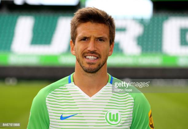 Ignacio Camacho of VfL Wolfsburg poses during the team presentation at on September 13 2017 in Wolfsburg Germany