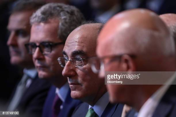 Ignacio Galan chairman of Iberdrola SA center attends a UKSpain Business Forum at Mansion House in London UK on Thursday July 13 2017 British...