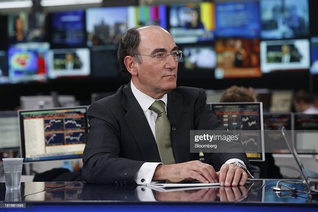 Ignacio Galan, chairman of Iberdrola SA, pauses during a Bloomberg Television interview in London, U.K., on Thursday, Feb. 14, 2013. Iberdrola SA, seeking to cut borrowings to 26 billion euros from the current level of more than 30 billion euros, intends to meet its debt-reduction plan by using asset sales, cash flow and securitization into tariff-deficit bonds, Galan said. Photographer: Simon Dawson/Bloomberg via Getty Images