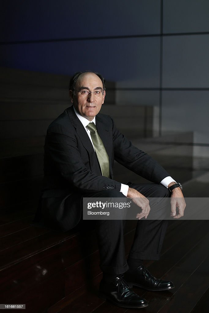 Ignacio Galan, chairman of Iberdrola SA, poses for a photograph following a Bloomberg Television interview in London, U.K., on Thursday, Feb. 14, 2013. Iberdrola SA, seeking to cut borrowings to 26 billion euros from the current level of more than 30 billion euros, intends to meet its debt-reduction plan by using asset sales, cash flow and securitization into tariff-deficit bonds, Galan said. Photographer: Simon Dawson/Bloomberg via Getty Images