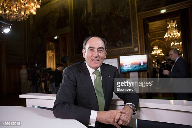 Ignacio Galan chairman of Iberdrola SA poses for a photograph following a Bloomberg Television interview at the United Nations COP21 climate summit...