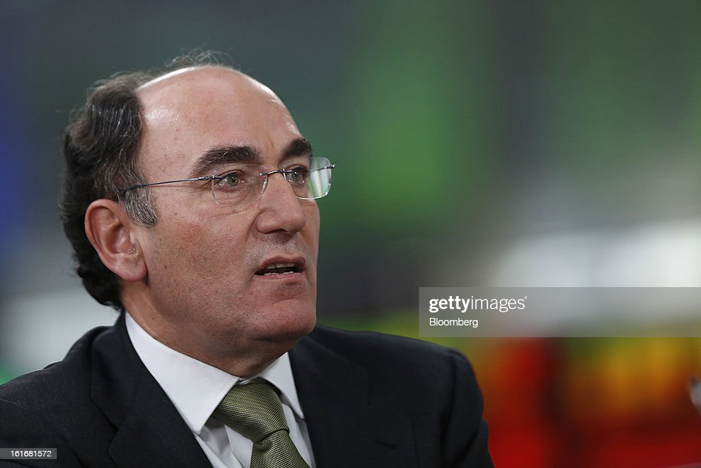 Ignacio Galan, chairman of Iberdrola SA, speaks during a Bloomberg Television interview in London, U.K., on Thursday, Feb. 14, 2013. Iberdrola SA, seeking to cut borrowings to 26 billion euros from the current level of more than 30 billion euros, intends to meet its debt-reduction plan by using asset sales, cash flow and securitization into tariff-deficit bonds, Galan said. Photographer: Simon Dawson/Bloomberg via Getty Images