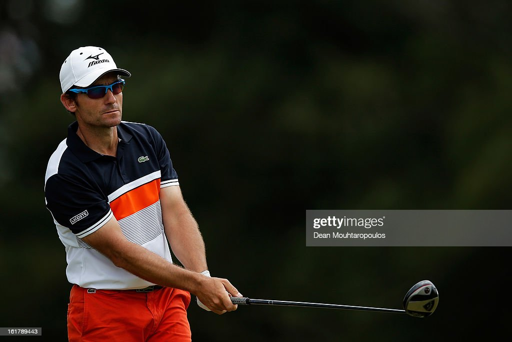 Ignacio Garrido of Spain hits his second shot on the 15th hole during Day Three of the Africa Open at East London Golf Club on February 16, 2013 in East London, South Africa.