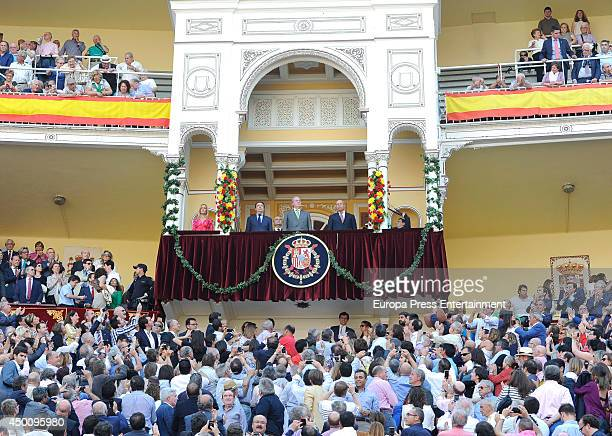 Ignacio Gonzalez King Juan Carlos of Spain and Jose Ignacio Wert attend San Isidro Bullfighting Fair at Las Ventas Bullring on June 4 2014 in Madrid...