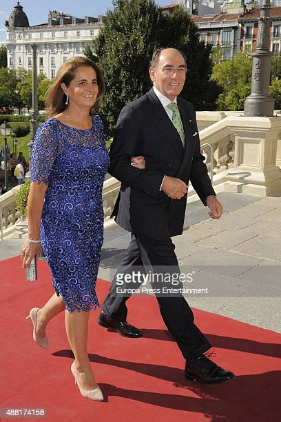 Ignacio Sanchez Galan attends the wedding of Spanish football team coach Vicente del Bosque's son Vicente del Bosque Lopez and Arola Lopez at Los...