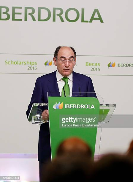 Ignacio Sanchez Galan delivers Iberdrola Foundation scholarships at casa de America on July 9 2015 in Madrid Spain