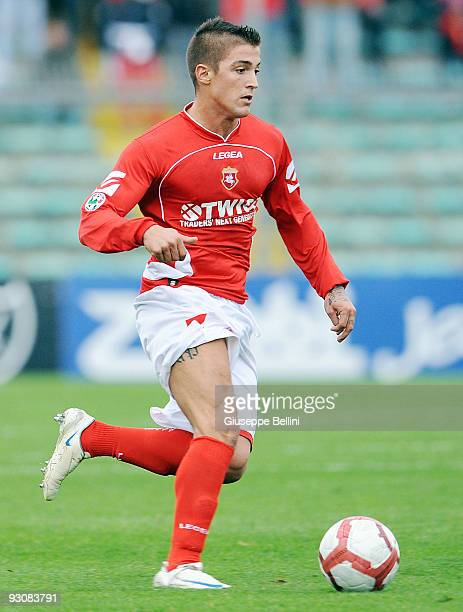 Ignacio Surraco of AC Ancona in action during the Serie B match between AC Ancona and Vicenza Calcio at Del Conero Stadium on November 15 2009 in...