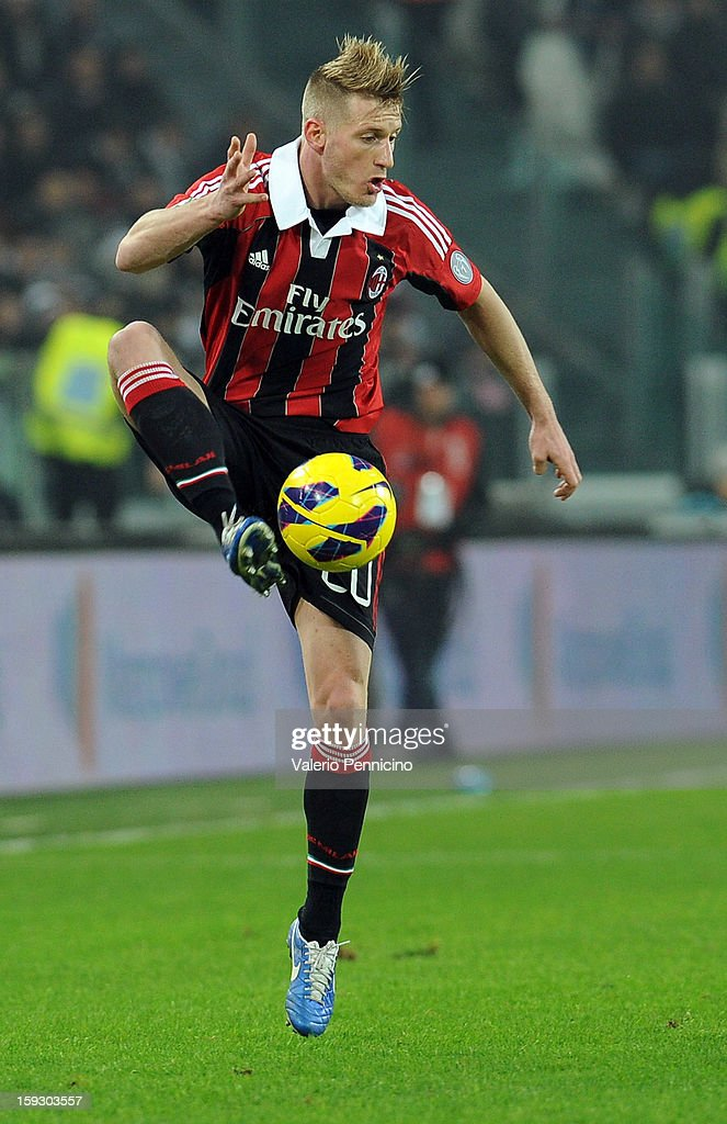 Ignazio Abate of AC Milan in action during the TIM cup match between Juventus FC and AC Milan at Juventus Arena on January 9, 2013 in Turin, Italy.