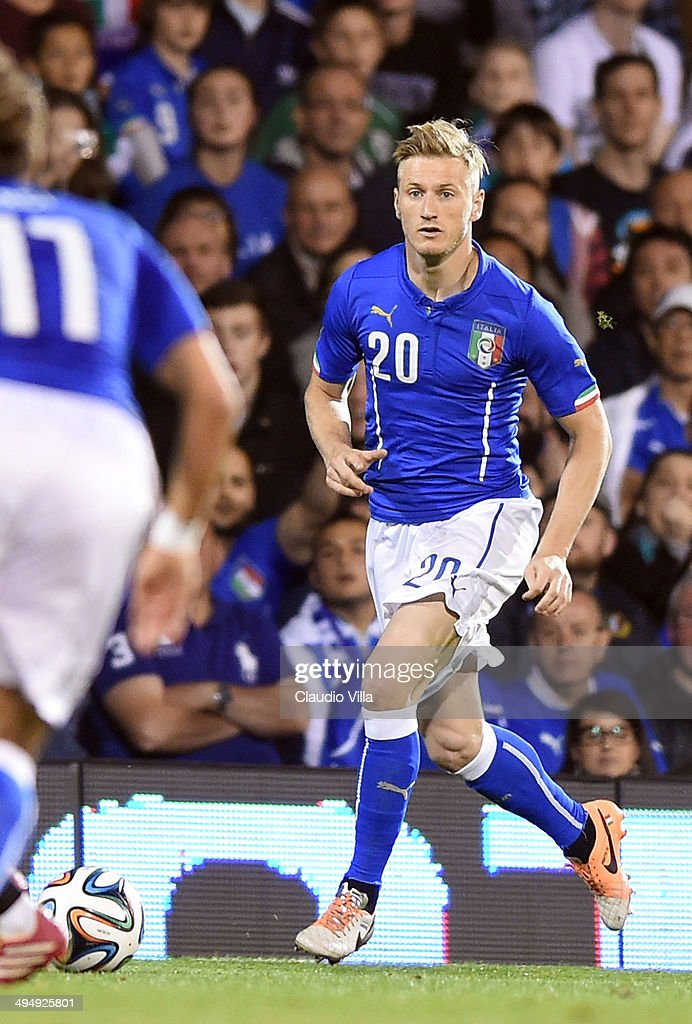 Ignazio Abate of Italy in action during the International Friendly match between Italy and Ireland at Craven Cottage on May 30, 2014 in London, England.