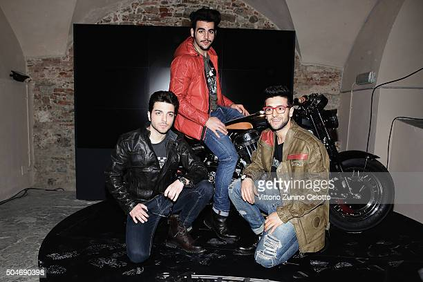 Ignazio Boschetto Gianluca Ginoble and Piero Barone attend 'Matchless London' Presentation on January 12 2016 in Florence Italy