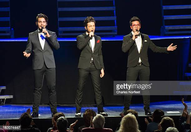 Ignazio Boschetto Gianluca Ginoble and Piero Barone of Il Volo perform at Radio City Music Hall on September 27 2013 in New York City