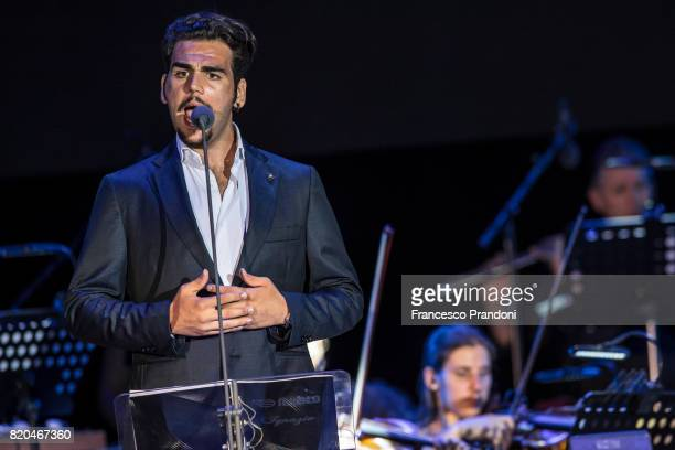 Ignazio Boschetto of Il Volo performs on stage during Lucca Summer Festival 2017 on July 21 2017 in Lucca Italy